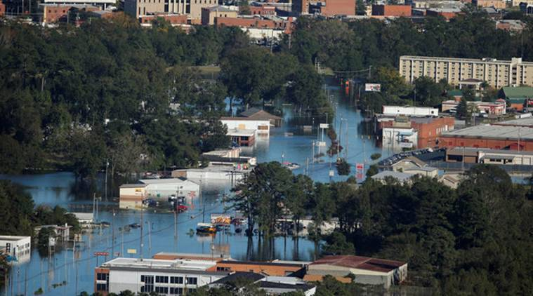 Hurricane matthew, matthew, north carolina, north carolina floods, north carolina flood waters, north carolina flood waters rise, north carolina death toll, death toll rise, world news, indian express