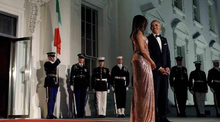 obama, president obama, barack obama, michelle obama, obama state dinner, white house state dinner, italian pm white house state dinner, italian pm usa, world news, indian express