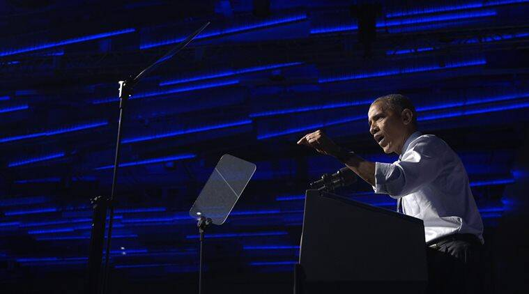 President Barack Obama speaks at a campaign event for the Ohio Democratic Party. (AP Photo)