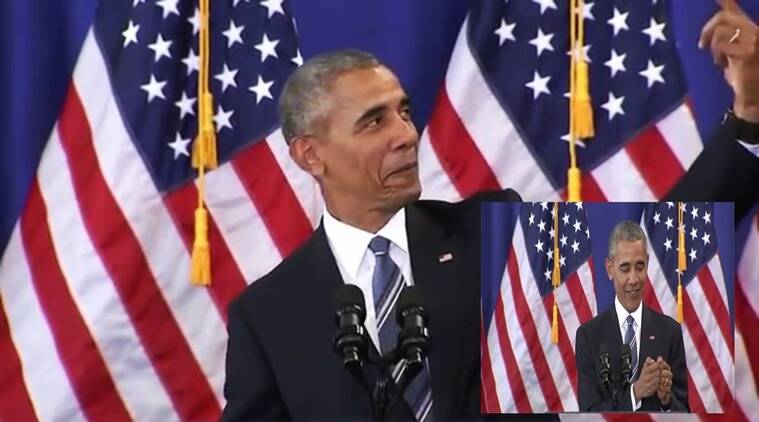 obama, obama imitates daughters, president obama imitates daughters, obama makes fun of daughters, obama impersonates daughters at school, indian express, indian express news, viral videos, trending globally