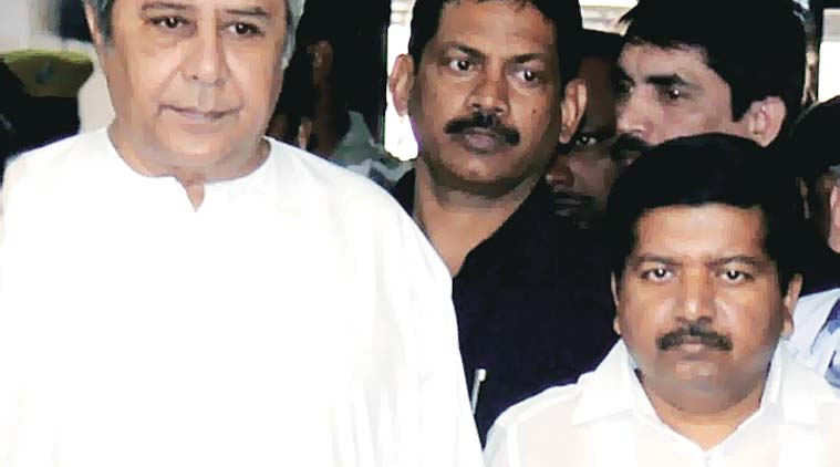 Naveen Patnaik and Atanu Sabyasachi Nayak at Capital Hospital in Bhubaneswar on Tuesday. (Express Photo by Chandra Shekhar Sahoo)