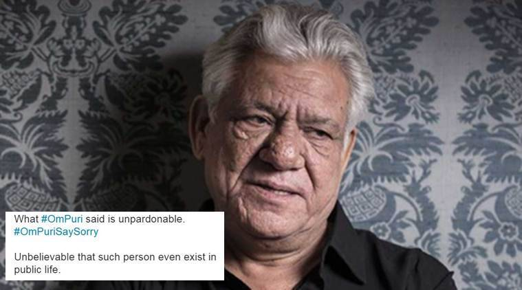 Om Puri draws flak on social media for commenting on Indian martyrs