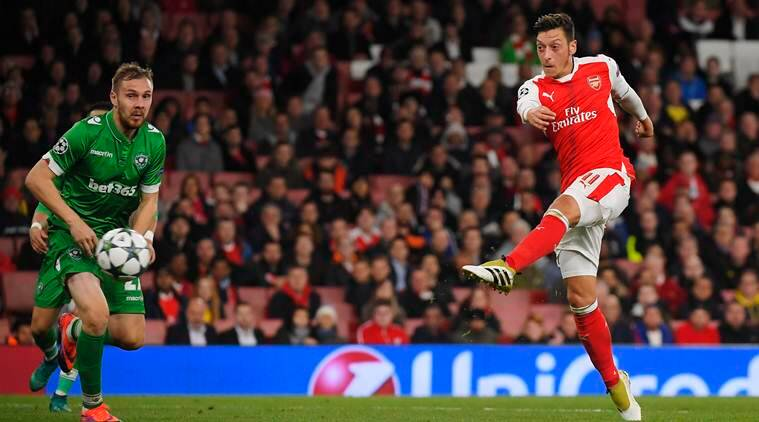 champions league, champions league results, arsenal, mesut ozil, arsenal champions league, football news, football