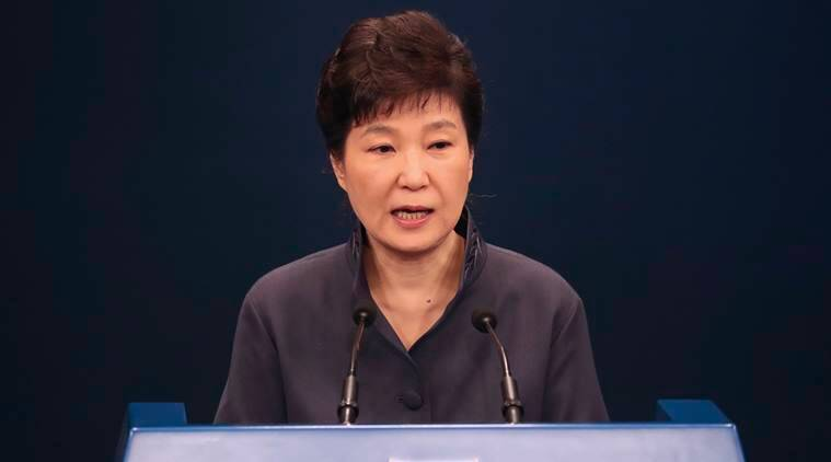 Park Geun-hye, Park Geun-hye south korea president, south korea corruption scandal, corruption, protesters, World news, Indian express news