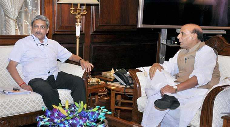 Manohar Parrikar and Rajnath Singh are believed to be among the union ministers who met the new recruits.