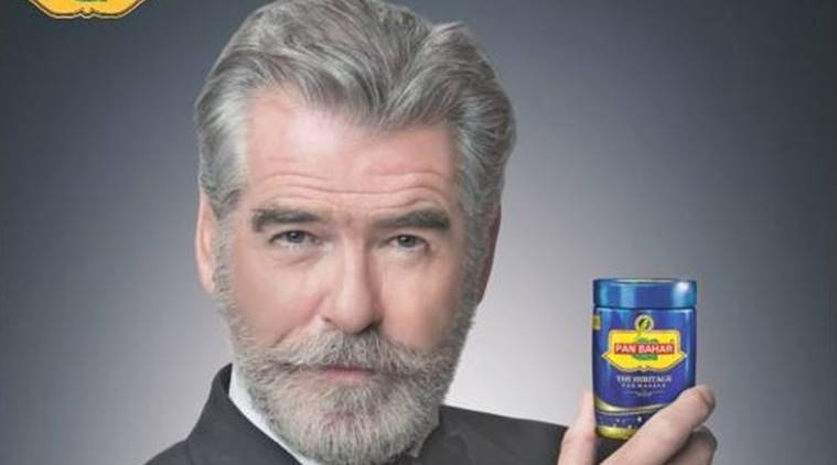 pierce brosnan, james bond, brosnan pan masala ad, pan masala ad pierce brosnan, james bond pan masala, india news