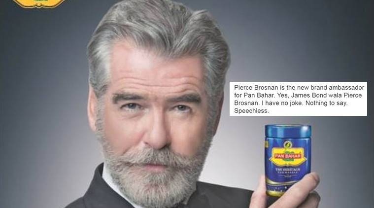 Yes, Pierce Brosnan ddi an ad for Pan Bahar