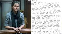 A fan wrote a letter to Tapsee Pannu after watching Pink and you should read it too