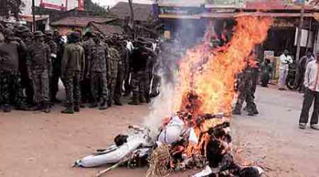 In Bastar, it's police who burn effigies of activists