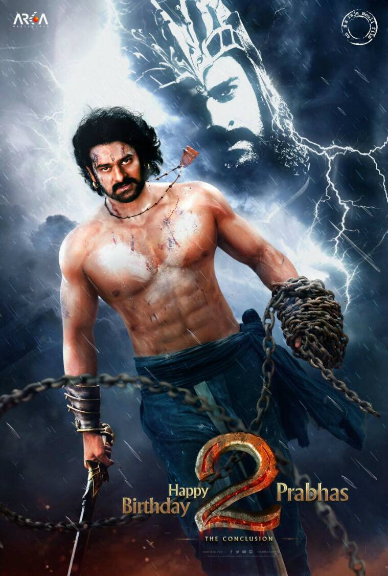 Hd wallpaper of bahubali 2 - The First Poster Of Baahubali 2 Released A Day Before The Birthday Of Lead Actor Prabhas