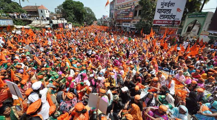 marathas march, Maharashtra maratha march, marathas silent march, kalhapur march, Maratha Kranti Mook Morcha, news, India news, national news, Maharashtra news, latest news