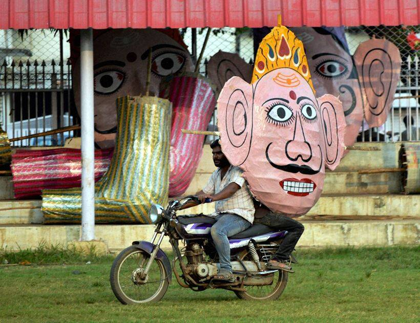 Durga Puja is being celebrated in many parts of country