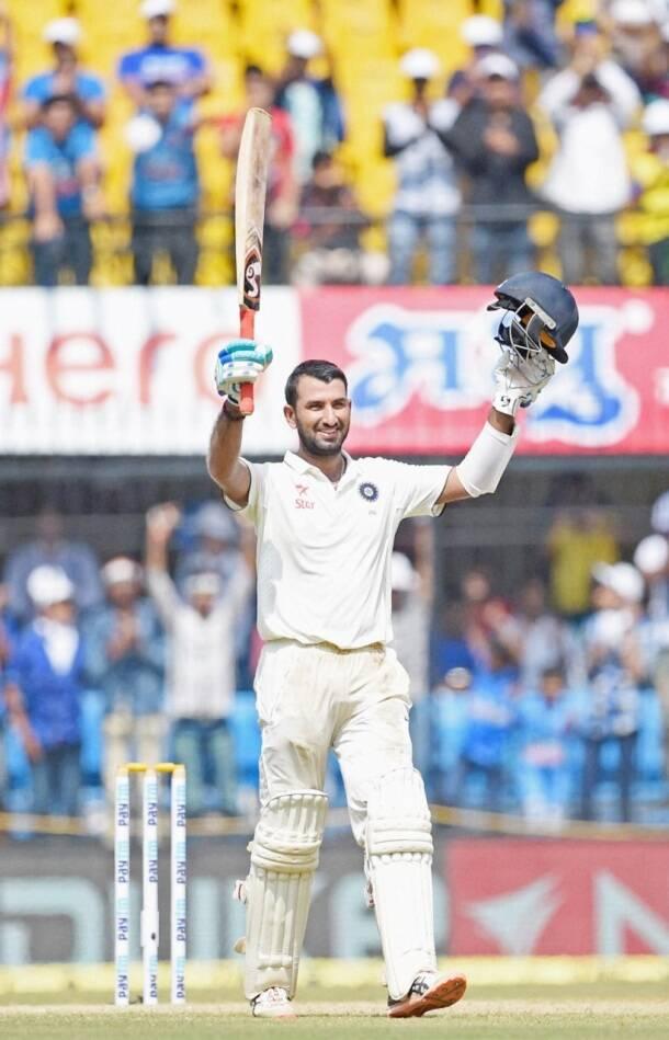 Chesteshwar pujara, pujara, pujara hundred, India vs New Zealand, ind vs nz, ind vs nz 3rd test, R Ashwin, Ashwin, Ashwin wickets, Ind vs nz photos, Ashwin photos, Kohli, Virat Kohli India, Cricket news, Cricket