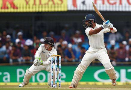 Pujara, Chesteshwar Pujara, india vs new zealand, ind vs nz, ind vs nz 3rd test, ind vs nz indore, ind vs nz 3rd test photos, ind vs nz test photos, India cricket, cricket photos, cricket newws, cricket
