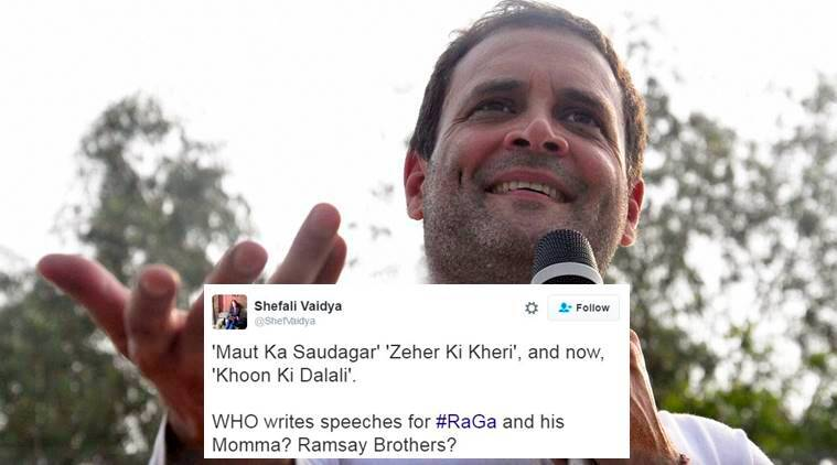 Rahul Gandhi said PM Modi is doing 'khoon ki dalali' and people are mighty pissed with the phrase