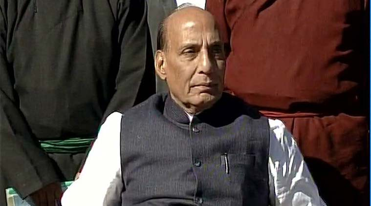 Rajnath Singh in Kargil on Tuesday. (Source; Twitter/@ANI_news)