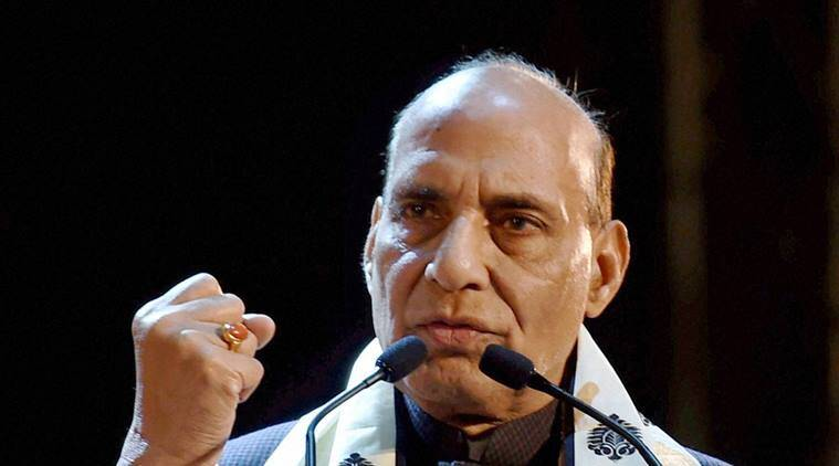 Rajnath singh, Home minister Rajnath singh, Rajnath singh Bahrain, Rajnath singh bahrain visit, Bahrain PM, Bahrain PM Khalifa bin Salman Al Khalifa, Bahrain King, Rajnath singh Bahrain king, Terrorism, Jammu and kashmir, Pakistan, India, Cross border terrorism, Pak sponsored terrorism, India news, indian express news