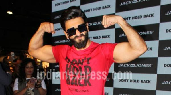 Ranveer Singh was spotted at an event in Mumbai.