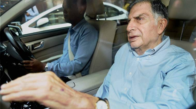 Ratan Tata, who replaced Cyrus Mistry to become the interim Chairman of Tata Sons leaves after attending a meeting at Bombay House in Mumbai on Tuesday. PTI Photo