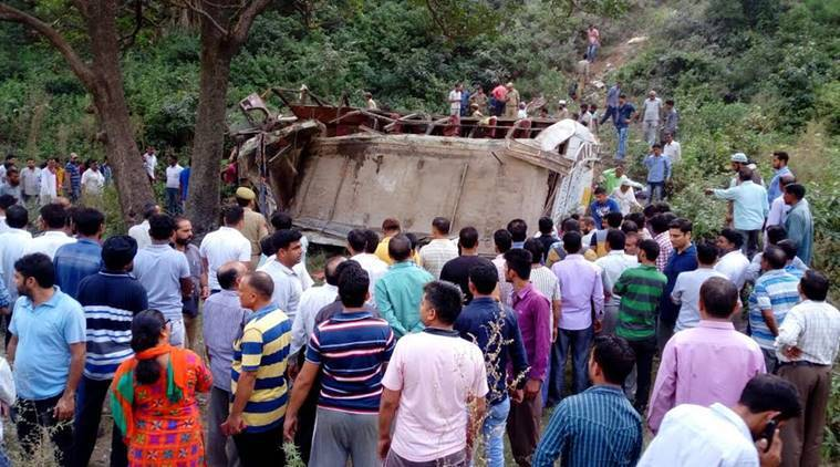 Reasi, Reasi accident, Reasi road mishap, Jammu and kashmir, Reasi 22 killed road mishap, Reasi 30 injured road mishap, Jammu Kashmir accident, J&K accident, J&K road accident, Jammu & Kashmir road accident, Kashmir, Kashmir news, Rajouri road accident, Kashmir rajouri, indian express, India news