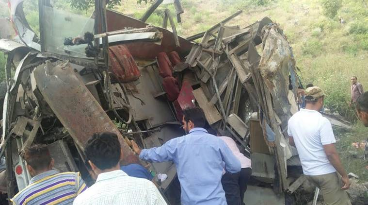 Reasi, Reasi accident, Reasi road mishap, Jammu and kashmir, Jammu Kashmir accident, Western command statement, western command on Reasi accident, Reasi bus accident, J&K accident, J&K road accident, Jammu & Kashmir road accident, Kashmir, Kashmir news, indian express, India news