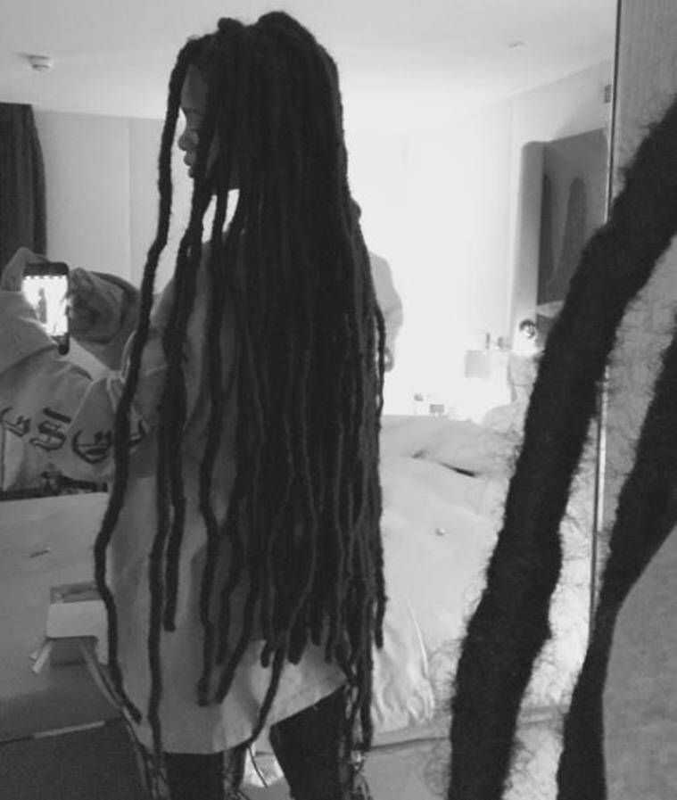 The 'Work' hitmaker shared her sweeping dreadlocks on her Instagram page. (Source: Instagram/Rihanna)