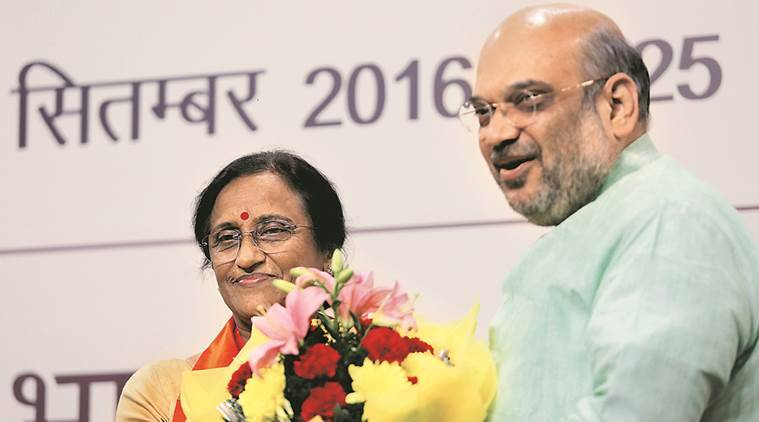 Rita Bahuguna Joshi, rahul gandhi, congress, BJP, bahuguna join bjp, Sheila Dikshit, BJP, CM candidate, uttar pardesh elections 2017, joshi quit, joshi join BJP, joshi BJP, UP polls, congress, BJP, Hemwati Nandan Bahuguna, brahmin votes, vote bank, up elections, BJP, congress, Vijay Bahuguna, rahul gandhi, kisan yatra, congress campaign, BJP campaign, mahila congress, indian express news, india news