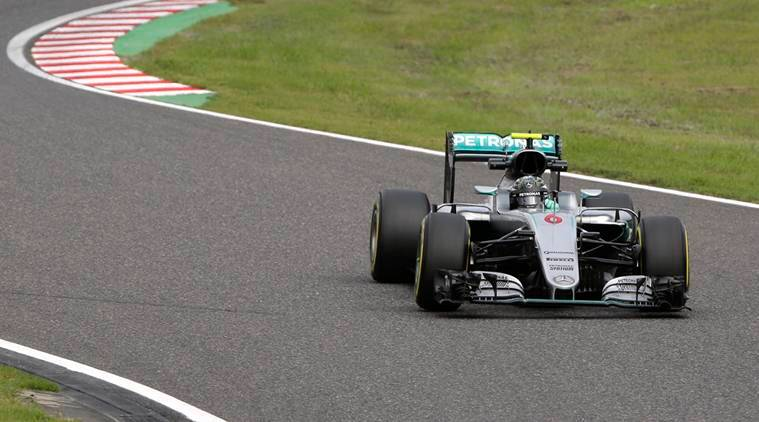 Mercedes driver Nico Rosberg of Germany steers his car during the second practice session for the Japanese Formula One Grand Prix at the Suzuka International Circuit in Suzuka, central Japan, Friday, Oct. 7, 2016. (AP Photo/Toru Takahashi)