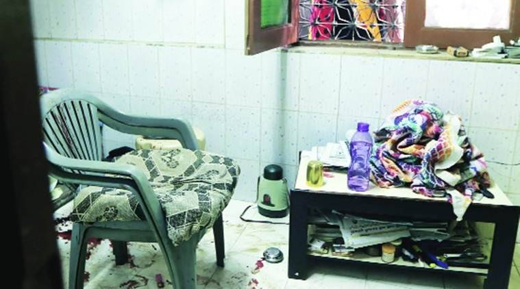 Bhupendra Vira, 60, was at home watching TV around 9 pm when the killer fired from outside the house, the bullet piercing the right temple. (Source: Express Photo by Ganesh Shirsekar)