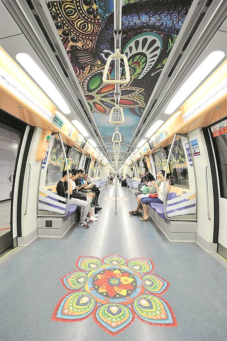 Singapore Diwali-themed train, Diwali train singapore, Singapore celebrates diwali,  North Eastern Line singapore, NRI, latest news, Latest news, latest india news