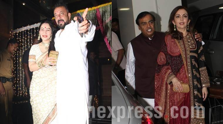 sanjay dutt, manyata dutt, nita ambani, mukesh ambani, aamir khan, diwali