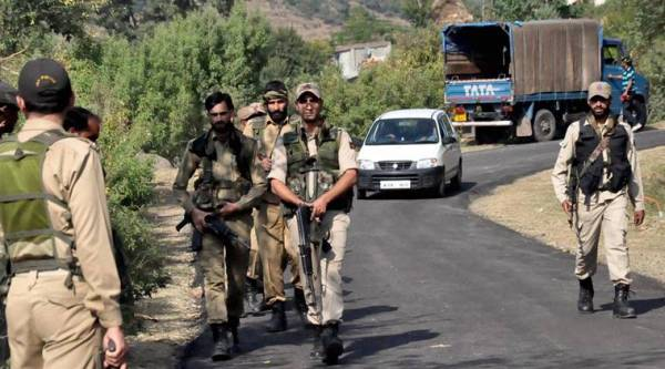 Rajouri: Army Jawans & Jammu Kashmir Police during a search operation after dozens of rusted grenades and bullets were recovered during excavation in Rajouri district of Jammu and Kashmir on Thursday. PTI Photo (PTI10_20_2016_000273B)