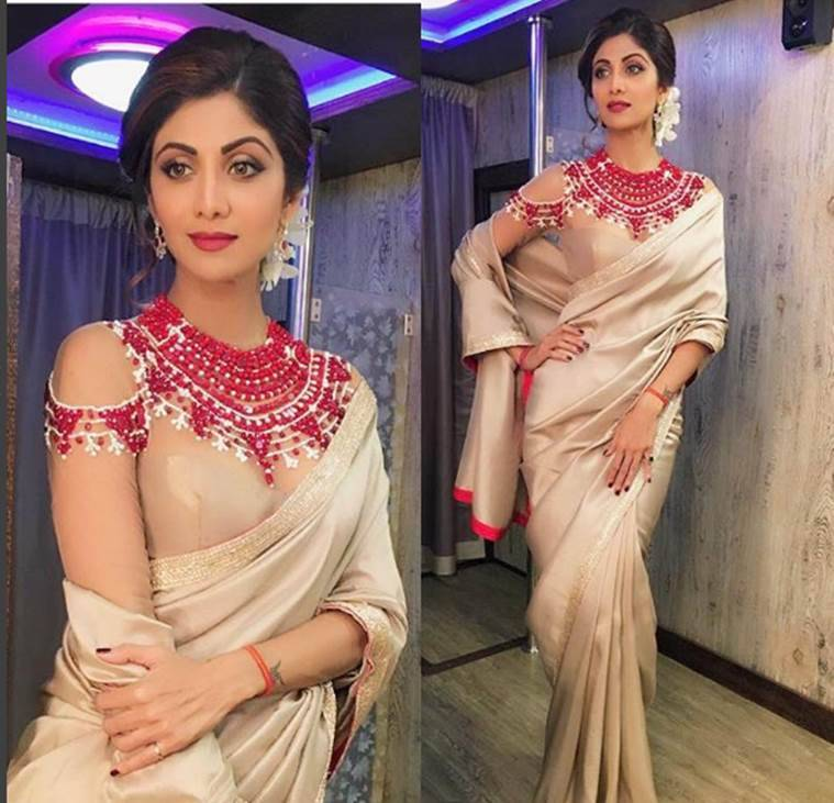 Saris should be your first choice this festive season. (Source: Instagram/Shilpa Shetty)
