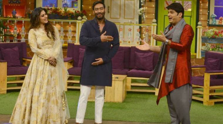 Ajay Devgn pranks the cast of The Kapil Sharma Show while promoting Shivaay,  watch video | Entertainment News,The Indian Express