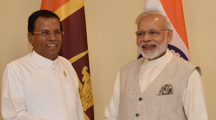 Sri Lanka civil war, LTTE, Sri Lankan President Maithripala Sirisena, Tamil civilian lands, World News, Indian Express