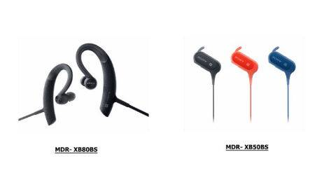 Sony launches MDR-XB50BS and XB80BS wireless extra bass in
