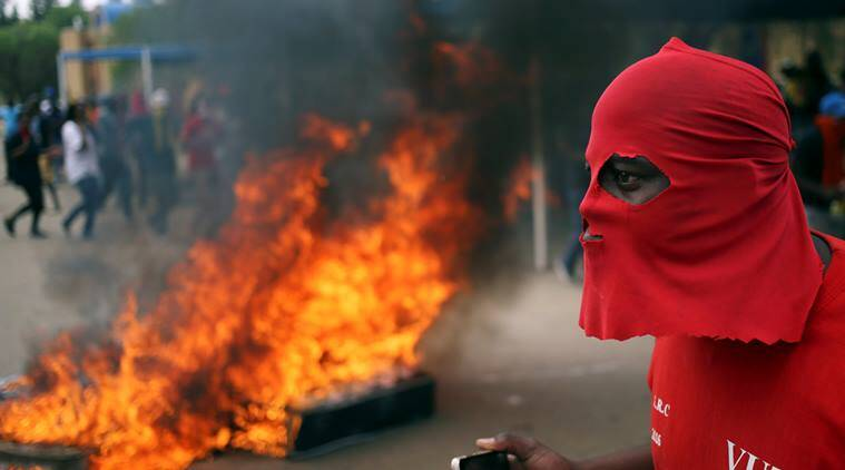 South Africa, south african university, south african students, Johannesburg university, student protests, south african students arrested, students arrested, student arrests, world news, indian express