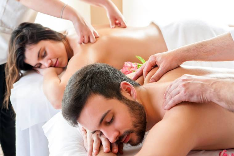 Calm your nerves with a couple's spa. (Source: Thinkstock)