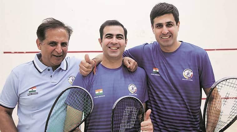 Squash, squash championship, Asian Masters Squash Championship, Saurabh Nayar, Vikas Nayar, Ajay Manchanda, sports, Indian news, Indian express news