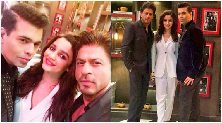 Image result for Shah Rukh Khan and Alia Bhattkoffee with karan