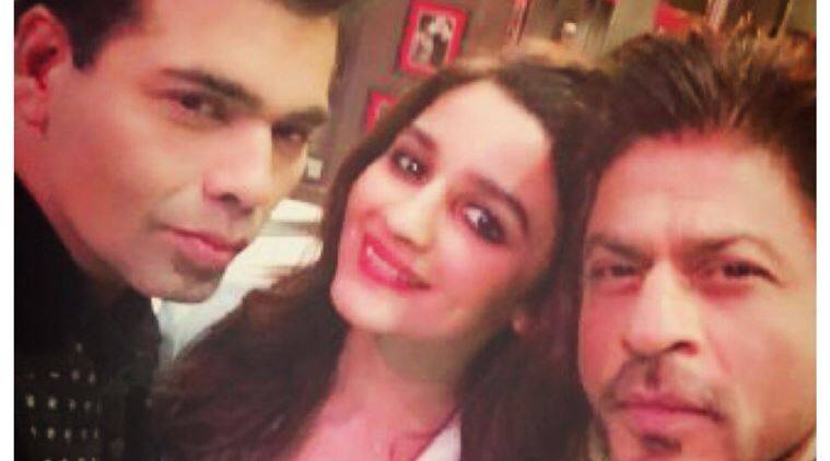 shah rukh khan, alia bhatt, karan johar, koffee with karan, koffee with karan image