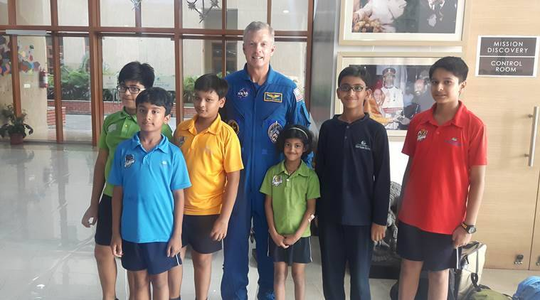 NASA, ISSET, Space Programme, Mission Dicsovery, National Aeronautics and Space Administration, International Space School Educational Trust, NASA astronaught, Steven Swanson, Shiv Nadar School, NASA student programe, NASA school programe, NASA programe in india, education news, indian express