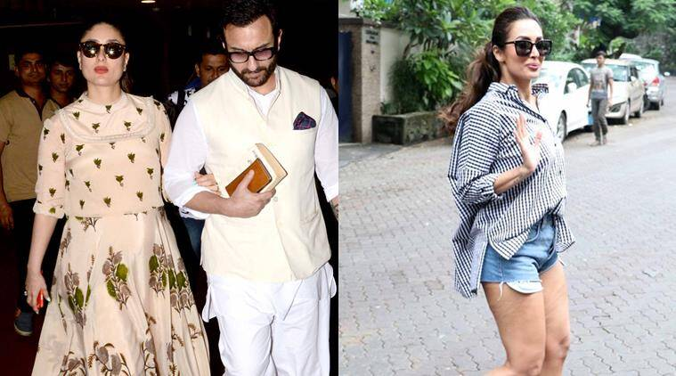Kareena Kapoor in Ritu Kumar (L) and Malaika Arora in an oversized shirt redefines cool.
