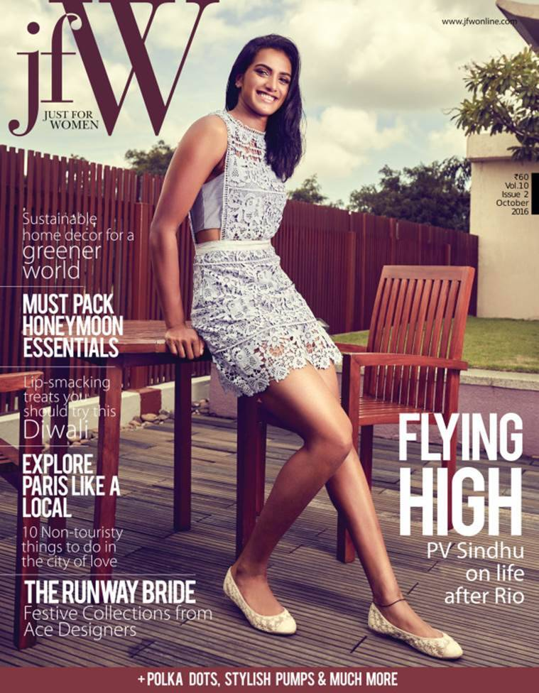 P V Sindhu on the cover of JFW magazine. (Source: JFW magazine)