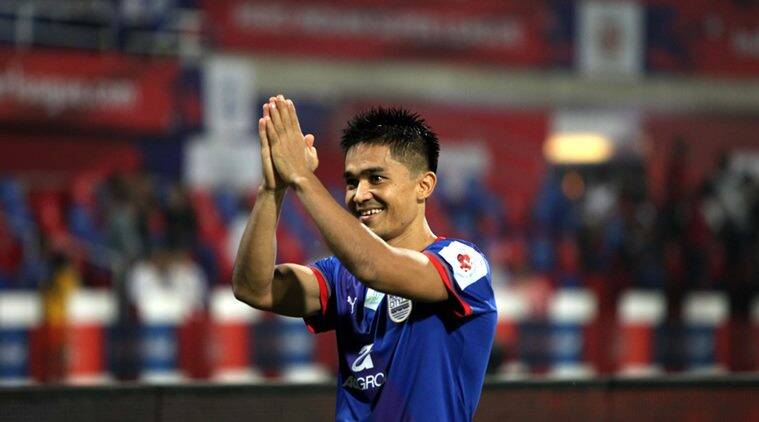 sunil chhetri, sunil chhetri isl, sunil chhetri i league, mumbai city fc, bengaluru fc, sports news, football news, indian express
