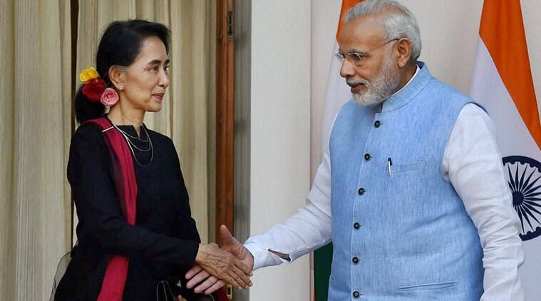 Suu Kyi, narendra modi, suu kyi india visit, india myanmar relation, india myanmar partnership, suu kyi in india, pm modi and suu kyi