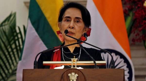 Suu Kyi, Myanmar, Suu Kyi Myanmar, Barack Obama, United States, foreign investors, US sanctions, economic plan, Indian express news, World news