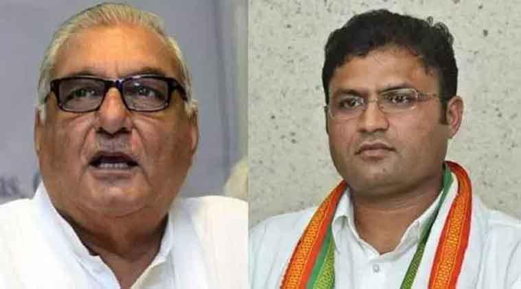 Haryana Chief Minister, Bhupinder Singh Hooda, hooda tanwar, hooda tanwar clash, hooda son, hooda son booked, assault case, deepender hooda, ashok tanwar, ashok tanwar attack, indian express news, india news, latest