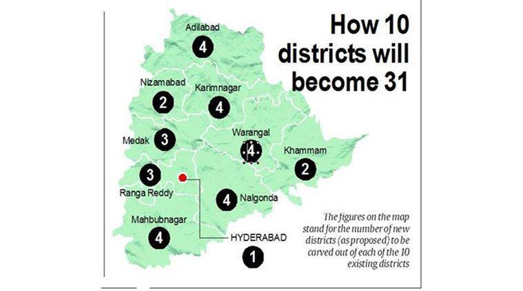 From 10 to 31 trs govt in telangana sets about adding more and more telangana telangana districts districts in telangana telangana population families in telangana ccuart Choice Image