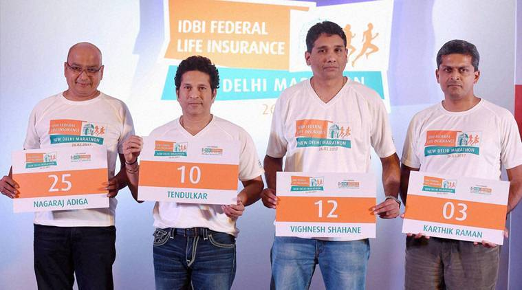 Sachin at IDBI Federal life Insurance announcement